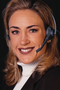 Woman with headset - MP900178848